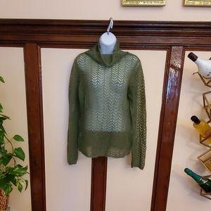LOFT green sweater, long sleeve ,size L